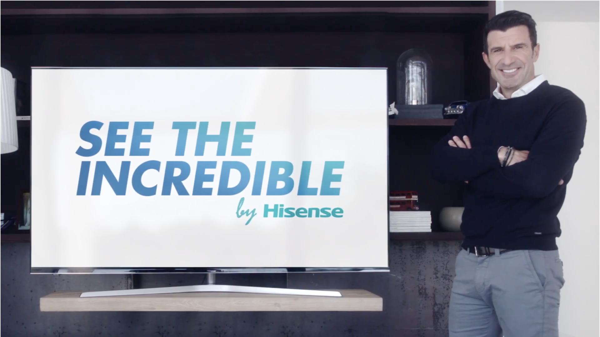 Imagen del spot realizado por Hisense y protagonizado por Figo