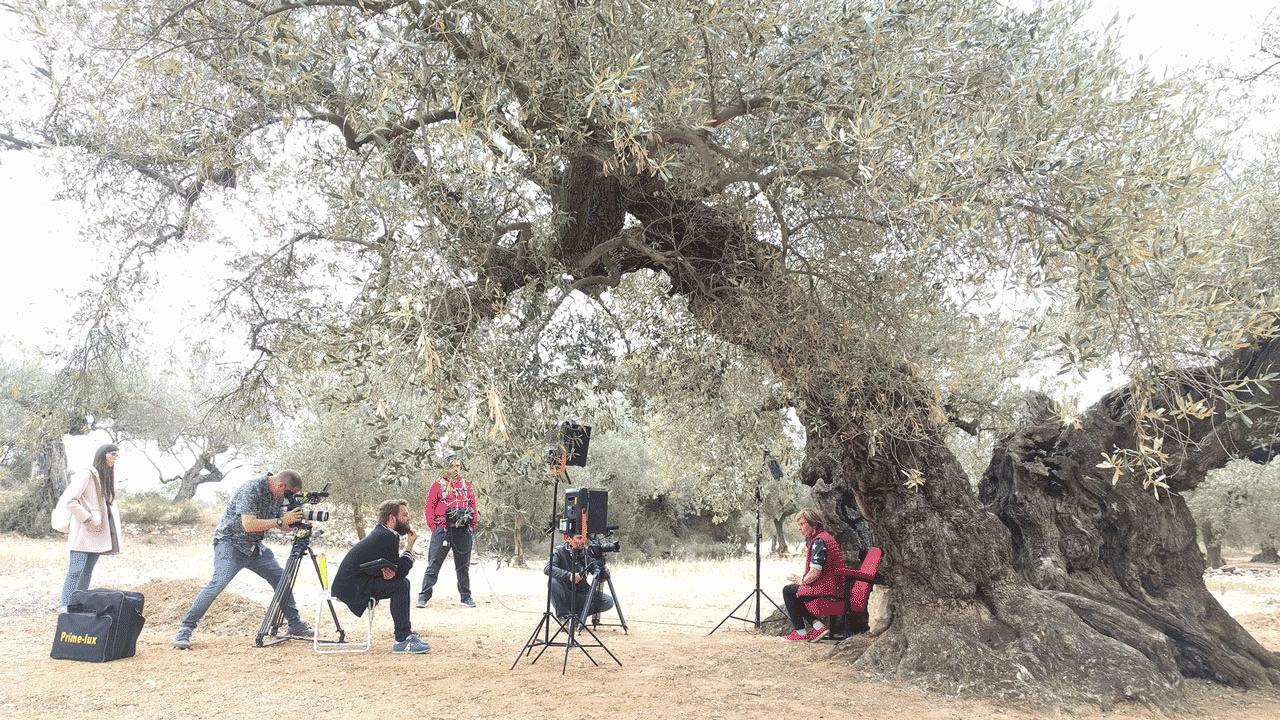 Rodatge de Terres de cinema de l'Andana Audiovisual i À Punt